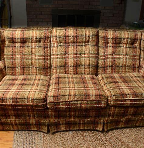 plaid sofas for sale plaid country sofa ebth