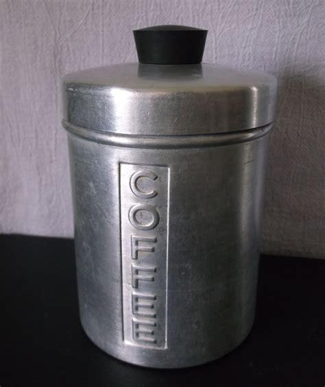 retro kitchen canisters vintage metal kitchen canisters aluminum flour sugar
