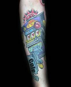 30 Slot Machine Tattoo Designs For Men