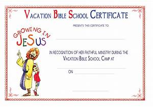 5 best images of vacation bible school certificates for Free vbs certificate templates