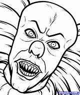 Pennywise Clown Coloring Print Pages Stephen Again Bar Looking Case Don Find sketch template
