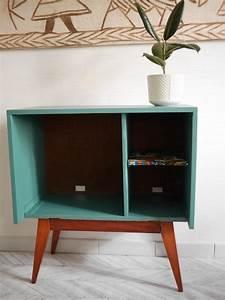 Pied De Meuble Vintage : meuble tv vintage pieds compas tag re wax luckyfind ~ Dallasstarsshop.com Idées de Décoration