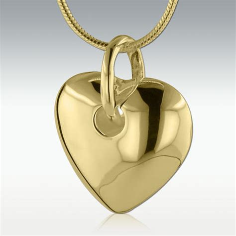 darling heart solid  gold cremation jewelry engravable