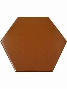 Carrelage Imitation Tomette Hexagonale : carrelage hexagonal marron 13 2x15 2 tomette la piece ~ Zukunftsfamilie.com Idées de Décoration