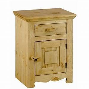 Table De Chevet Bois Brut : table de chevet rustique ~ Teatrodelosmanantiales.com Idées de Décoration