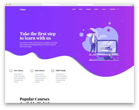25 Free Bootstrap Education Templates For Online Course