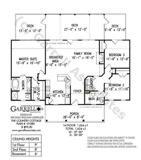 Country Cottage House Plan 01080 Garrell Associates Inc