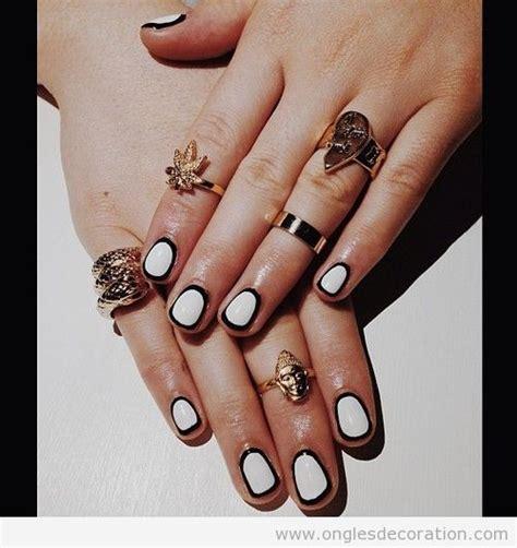 deco ongle noir et blanc 201 legant d 233 coration d ongles nail part 2 dessins sur les ongles