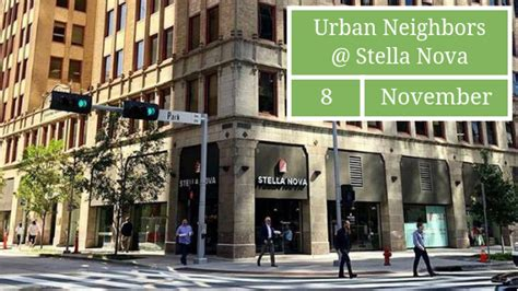 Plenty of seating available with a variety of options if alone or with a group. November Social at Stella Nova - Urban Neighbors