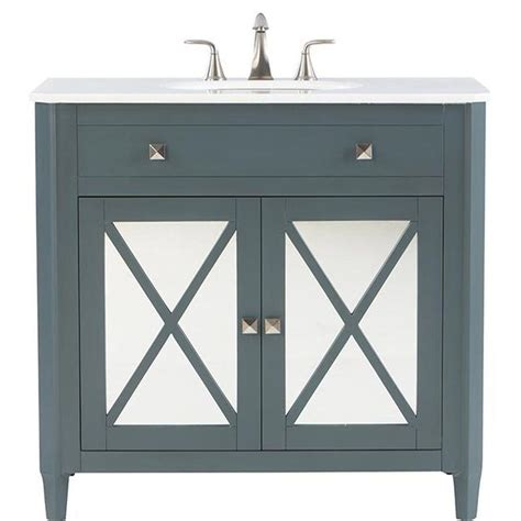 home decorators vanity home decorators collection barcelona 37 in vanity in teal 1655
