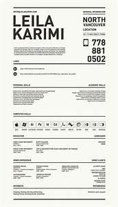 Really Creative  Simple Resume By Leila Karimi  Via