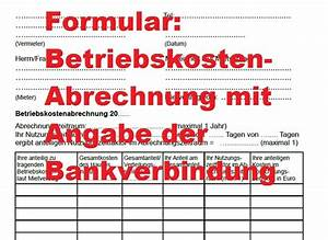 Abrechnung Heizkosten Ohne Zähler : formular betriebskostenabrechnung mit angabe konto vermieter ~ Themetempest.com Abrechnung