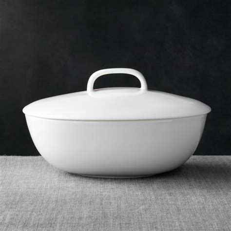 bennett oval serving bowl  lid reviews crate