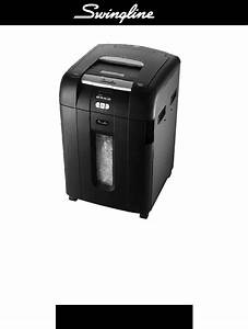 Swingline Paper Shredder 500x User Guide