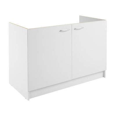 cuisine primalight meuble cuisine sous évier 2 portes 120 cm blanc primalight