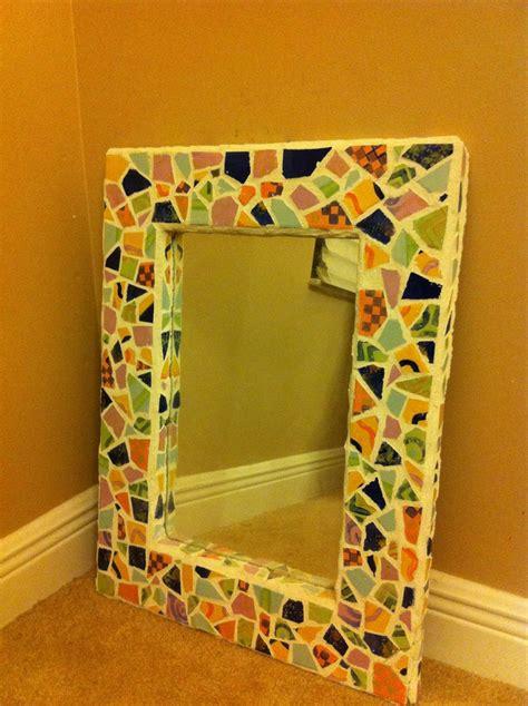 Mosaic Bathroom Mirror Diy by Mosaics Mirror Frame Great Gift Diy Things I Made