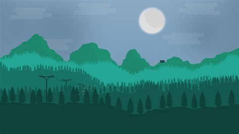 Firewatch Inspired 2d Landscape Speedart Youtube