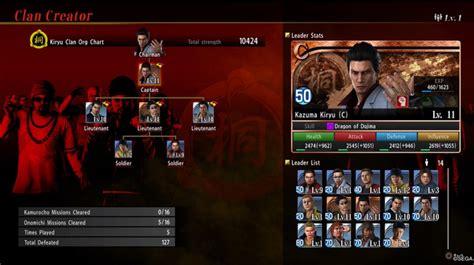 yakuza  clan codes  clan creator characters skill