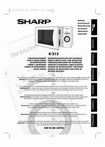 Sharp R 212 U Microwave Oven Download Manual For Free Now