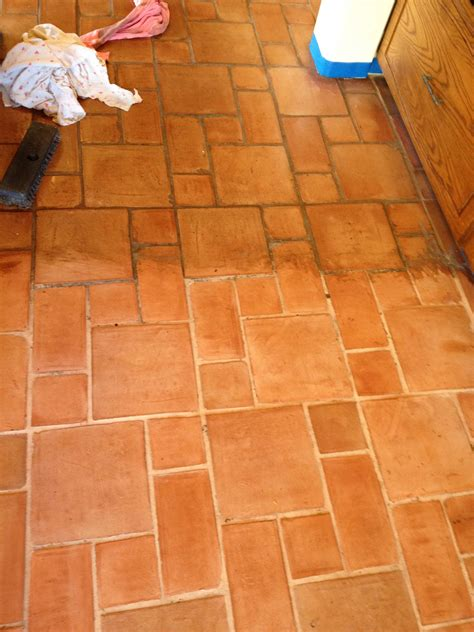 saltillo tile cleaning saltillo tiles before and after images