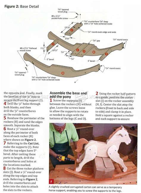 rocking horse plans woodarchivist