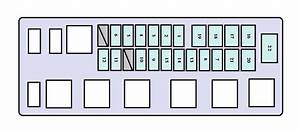 2000 Toyota Tundra Mk1 Engine Compartment Fuse Box Diagram