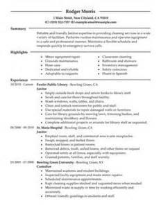 church custodian resume sle sle resume janitor duties sle resume
