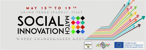 match si e social social innovation match 15 19 maggio associazione