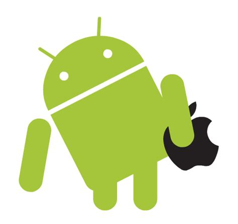 android android bot discovered apple logo on
