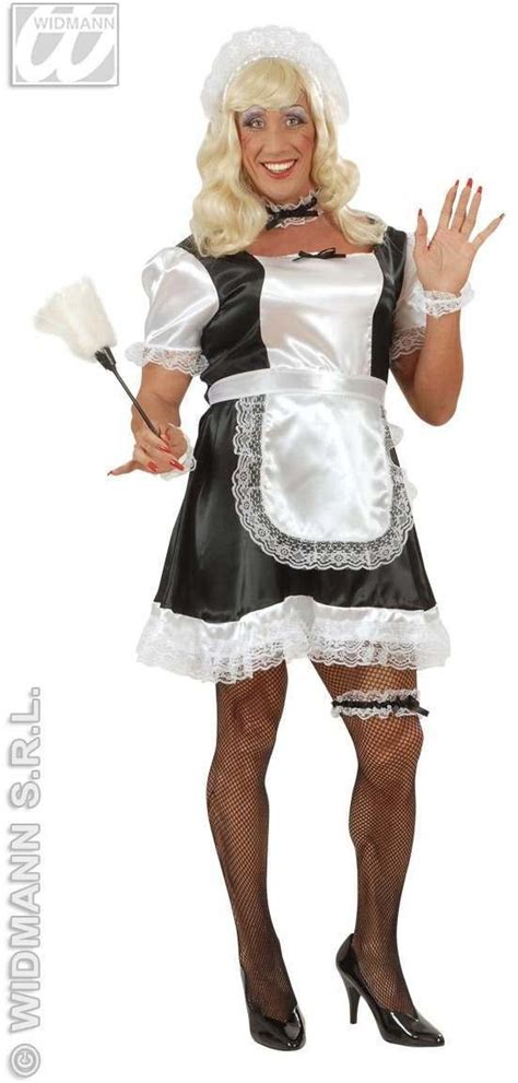 Xl Male French Maid Adult Fancy Dress Costume Mens (drag