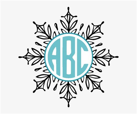 Download the free snowflake svg cut file today. Frozen Monogram Svg - Layered SVG Cut File