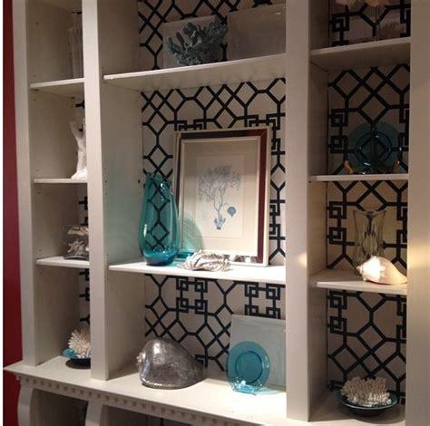 wallpaper  shelves  built  bookcase