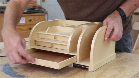 wooden desk organizer    charging station