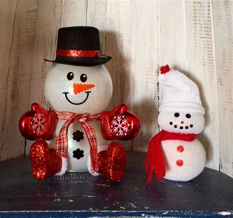 snowmen glittered glass bowls  dt decorated  hat