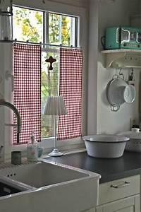 Fenster Gardinen Küche : baumwollstoff und vintage stil in ihrer k che gardinen vorh nge k che k chenvorh nge und ~ Yasmunasinghe.com Haus und Dekorationen