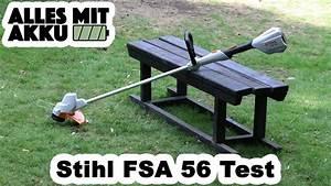 Akku Rasentrimmer Test : stihl fsa 56 rasentrimmer test alles mit akku youtube ~ Watch28wear.com Haus und Dekorationen