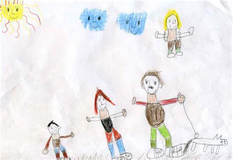 Selbstgemalte Bilder Kindern reli gedanken ein engel passt auf