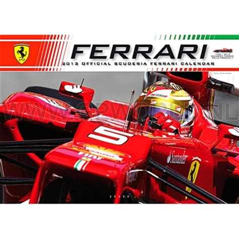 No matter what part of the world, whether in australia, britain or brazil, it is the screaming ferrari fans with their faces painted red, who are the most passionate among the crowd. 2013 Official Ferrari F1 kalender - - GPworld Racing Merchandise