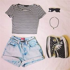 Shorts: top, tumblr, tumblr af, striped shirt, crop tops ...