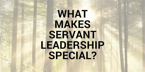 servant leadership special
