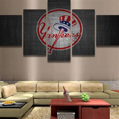 york yankee logo sport  panel canvas art wall decor