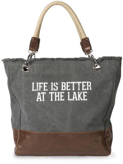 canvas weekender lake tote bag monogram