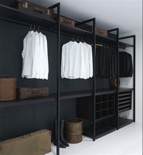 25 best ideas about industrial closet on pipe