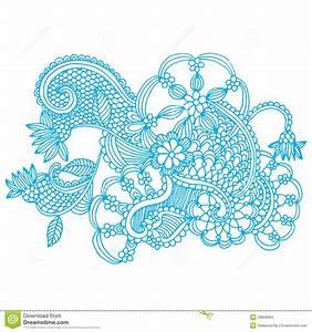 Neckline embroidery design stock illustration ...