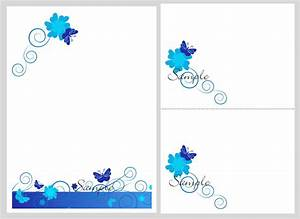blank wedding invitations templates blue matik for With blue butterfly wedding invitations templates