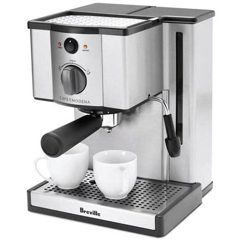 breville stainless steel cafe modena espresso machine cutlery