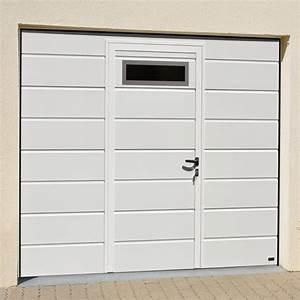 Porte De Garage Avec Portillon Pas Cher : porte de garage sectionnelle avec portillon pas cher ~ Nature-et-papiers.com Idées de Décoration
