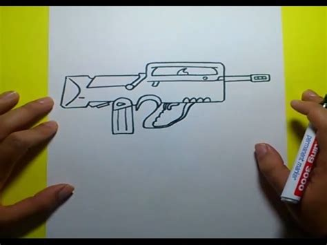 como dibujar  arma paso  paso   draw  gun