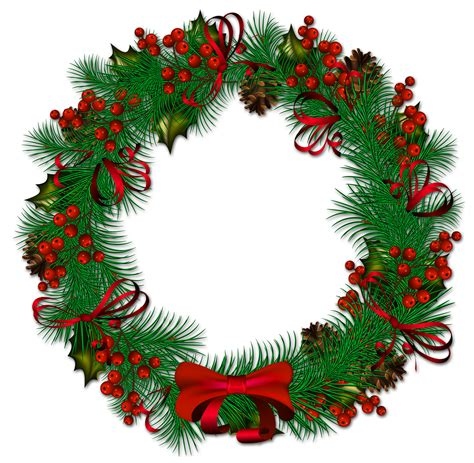 christmas garland clipart transparent background clipground