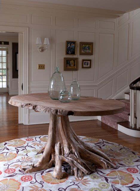 groundwork root base centerhall table   reclaimed